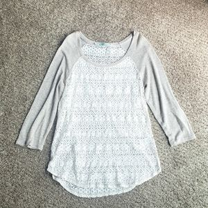 Maurices 3/4 length top